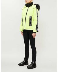 Topshop Ski Jacket Neon Yellow Logo