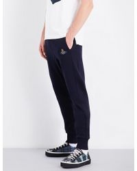 Vivienne Westwood   Embroidered Skinny Cotton-jersey Jogging Bottoms   Lyst