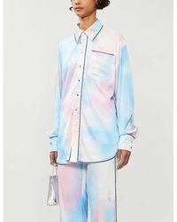 Fyodor Golan Tie-dye Satin Shirt - Multicolor