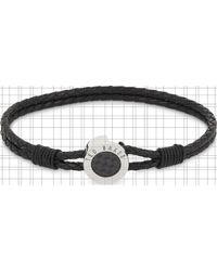 Ted Baker Carbon Fibre Leather Bracelet - Black