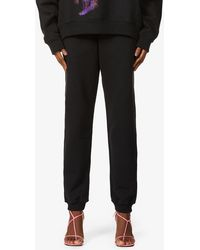 Fenty Tapered Mid-rise Cotton-jersey jogging Bottoms - Black