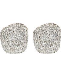 Monica Vinader - Nura Nugget 18ct Rose-gold Vermeil And Diamond Earrings - Lyst