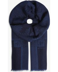 Etro - Paisley Check Print Wool-blend Scarf - Lyst
