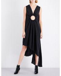Sharon Wauchob Cutout-detail Silk Dress - Black