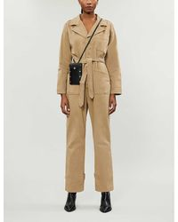 GOOD AMERICAN The On Duty Stretch-cotton Jumpsuit - Natural