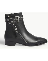 PAIGE - Mia Flat Leather Ankle Boots - Lyst
