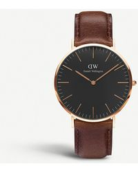 Daniel Wellington Classic Bristol Rose Gold Watch - Black