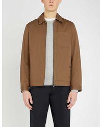 Ted Baker Samba Harrington Cotton Jacket - Brown