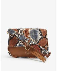 Ted Baker Hettie Leather Cross-body Bag - Brown