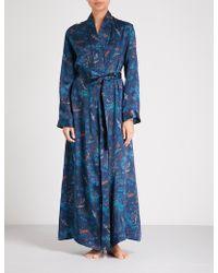 Derek Rose - Brindisi Silk-satin Dressing Gown - Lyst