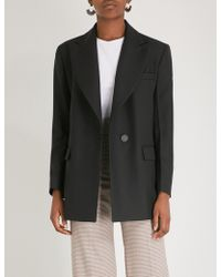 Sandro - Tailored Crepe Jacket - Lyst