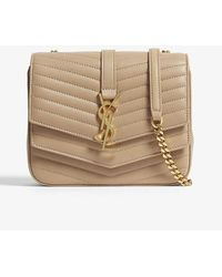 Saint Laurent Sulpice Small Quilted Leather Cross-body Bag - Natural