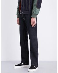 Evisu - Phoenix-embroidered Regular-fit Straight Jeans - Lyst