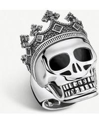 Thomas Sabo Rebel Kingdom Skull Crown Silver Ring - Metallic