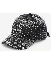 Versace Bandana-print Cotton Baseball Cap - Black