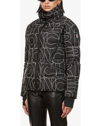 Moncler Ladies Black Matte Dixence Padded Shell-down Coat - Multicolour