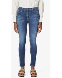 AG Jeans The Farrah Skinny High-rise Jeans - Blue