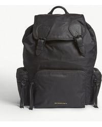 Burberry - Black Brand Embossed Rucksack - Lyst