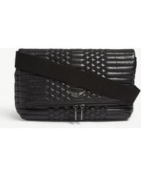 Zadig & Voltaire - Noir Black Rocky Quilted Leather Cross Body Bag - Lyst