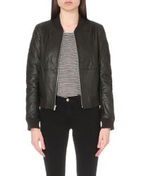 PAIGE Zoey Leather Jacket - Black