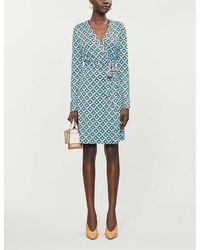 Diane von Furstenberg Julian Wrap Recycled-silk Jersey Midi Dress - Blue