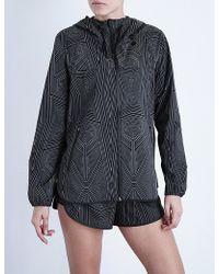 Ivy Park Reflective Abstract-print Shell Jacket - Black