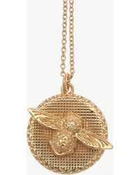 Olivia Burton - 3d Bee & Coin 18ct Gold-plated Necklace - Lyst