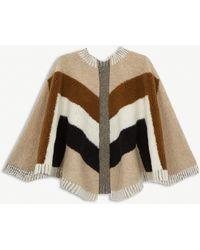 Maje Wool-blend Shawl - Natural