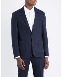 Sandro | Regular-fit Single-breasted Brushed-wool Jacket | Lyst