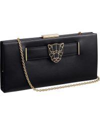 Cartier Panthère De Calfskin Clutch Bag - Black