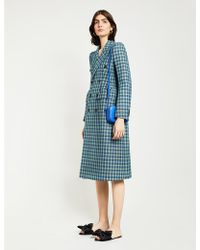 Balenciaga Hourglass Wool Coat - Blue