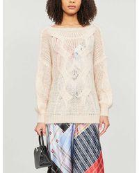 Maje Morsade Cable Knit Sweater - Natural