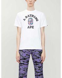 A Bathing Ape Tokyo Logo-print Cotton-jersey T-shirt - White
