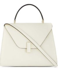 Valextra Iside Medium Grained-leather Cross-body Bag - Natural