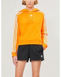 adidas Originals - Striped Stretch-jersey Shorts - Lyst