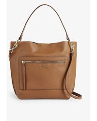 Ted Baker Cafrin Leather Hobo Bag - Brown