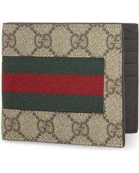 Gucci - Web Gg Supreme Billfold Wallet - Lyst