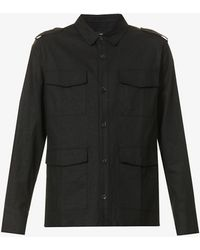 PAIGE - Chelton Relaxed-fit Linen-blend Shirt - Lyst