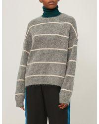 Acne Studios - Rhira Striped Wool-blend Jumper - Lyst