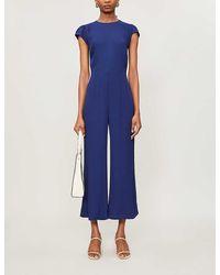 Reformation Mayer Crepe Jumpsuit - Blue