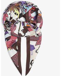 Eton of Sweden Jazz-print Silk Losange Scarf - Multicolor