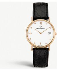 Carl F. Bucherer - 00.10301.03.27.01 Adamavi Rose-gold And Leather Watch - Lyst
