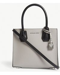 MICHAEL Michael Kors - Mercer Grained Leather Tote - Lyst