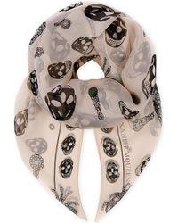 Alexander McQueen   Spider Skull Silk Scarf   Lyst