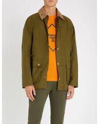 Barbour - Bedale Corduroy-trimmed Cotton Jacket - Lyst