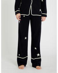 Chinti & Parker Star-intarsia Cashmere Pyjama Bottoms - Blue