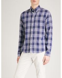Eton of Sweden - Checked Slim-fit Linen Shirt - Lyst