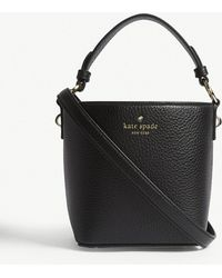 Kate Spade - Ladies Black Grained Hayes Pippa Leather Shoulder Bag - Lyst