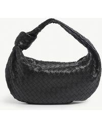 Bottega Veneta Jodie Intrecciato Mini Leather Hobo Bag - Black