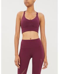 Lorna Jane Agility Maximum Support Stretch-jersey Sports Bra - Purple